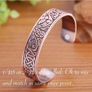 Phoenix totem Copper plated bracelet